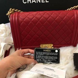 Chanel Boy old medium Red. NO trade
